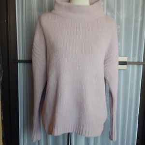 NWT Catherine Blush Mock Cowl Neck Sweater